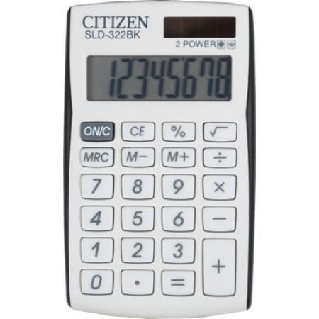 Αριθμομηχανή Γραφείου CITIZEN SLD-322BK 8 Ψηφίων Τσέπης