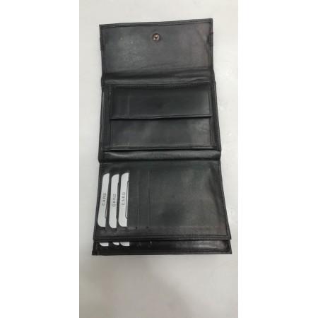 Πορτοφόλι FETICHE  Δερμάτινο μαύρο με μεταλλικές λεπτομέρειες